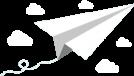 paper aeroplane in the cloud